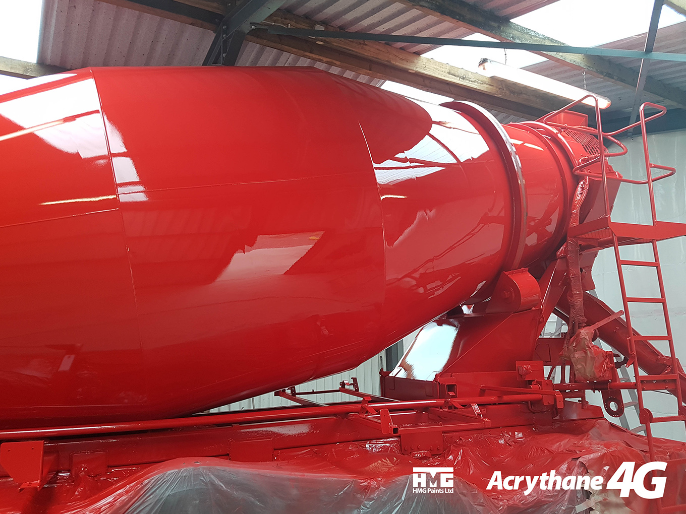 Acrythane 4G High Gloss Finish Red